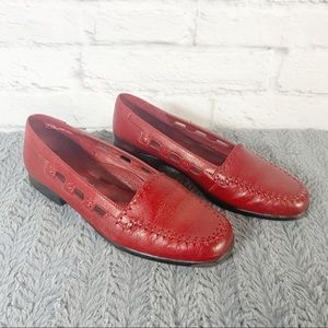 Womens Red Loafers Flats size 6.5